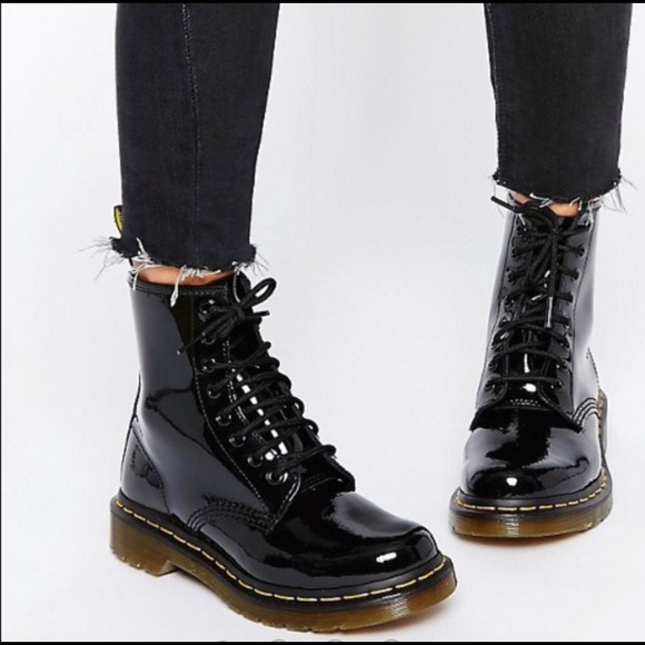 3dbc67f8e10 Dr. Martens Other - Dr. Martens 1460W Black Patent Lace-Up Boots